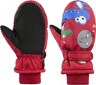 Toddler Winter Mittens Waterproof Boy Ski Gloves Warm Fleece Snow Mitten for Baby Boy Girl Cold Weather
