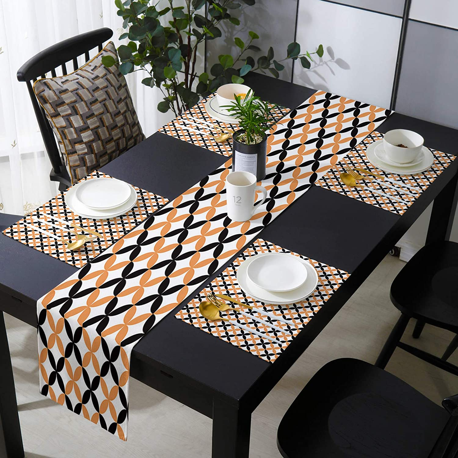 OneHoney Halloween Year-end gift Pattern Ranking TOP16 Table Runner Set and of 6 Placemats