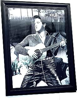 Elvis Presley 3D Lenticular Poster Wall Art Decor Framed Print | 14.5x18.5 | Lenticular Posters & Pictures | Memorabilia Gifts for Guys & Girls Bedroom | Vintage King of Rock Art