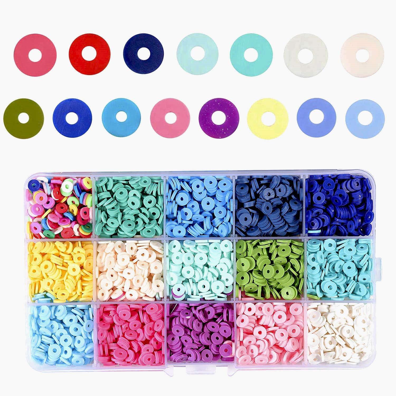 heishi pearl,disc pearl jewelry making plastic beads Orange polymer beads creative supply,6mm,the yarn of 320 beads-G712