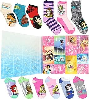Princess Girls 12 Days of Socks Holiday Advent Calendar