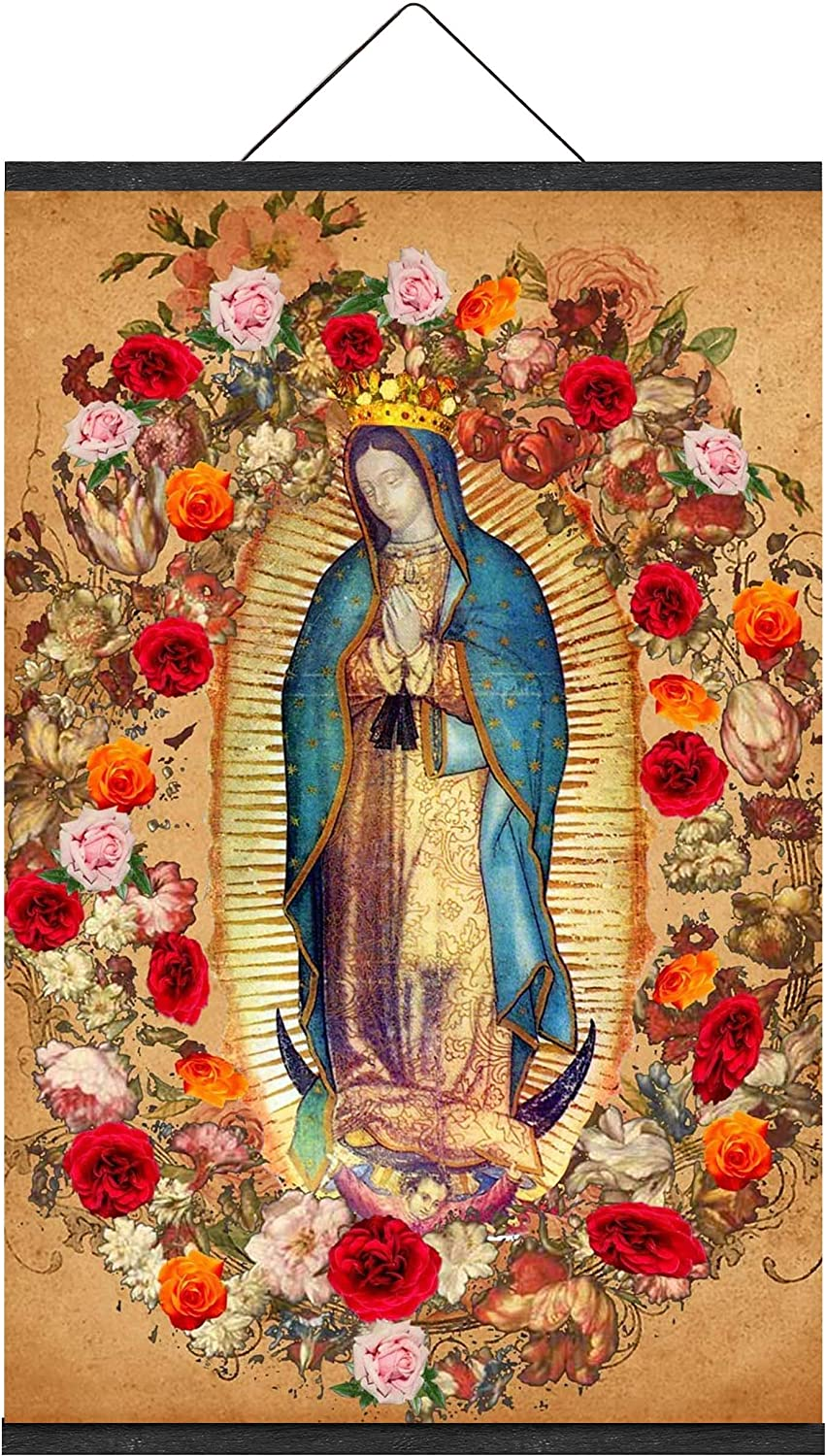 Virgin Mary Our Lady of Guadalupe de Art Print la 贈与 NEW売り切れる前に☆ Mexican Virgen