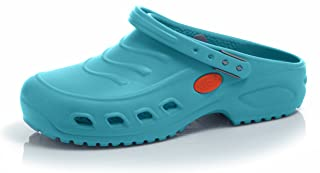 Oxypas 'Gravity' Washable Clog. Slip-resistant, Antistatic Nursing Shoes in Electric Green