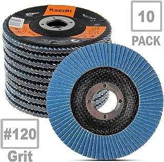 KSEIBI 686040A Zirconia Corundum 4 1/2 Inch Flap Disc Sanding Grinding Wheel (Grit #120, 10Pack)