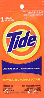 Tide Travel 1-Load Packets (9 Pieces) 1.8 Ounce (53ml)
