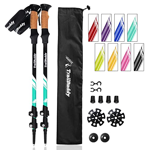fe9beec28db TrailBuddy Trekking Poles - 2-pc Pack Adjustable Hiking or Walking Sticks -  Strong