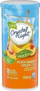 Crystal Light Peach Mango Green Tea Drink Mix (60 Pitcher Packets, 12 Packs of 5)