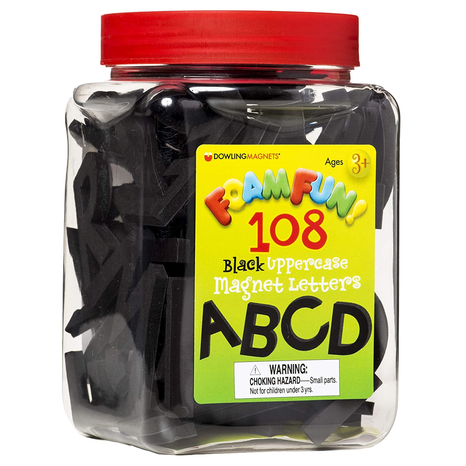 Dowling Magnets Foam Fun Max 59% OFF Black 1-2 Uppercase Letters Limited Special Price inc Magnet
