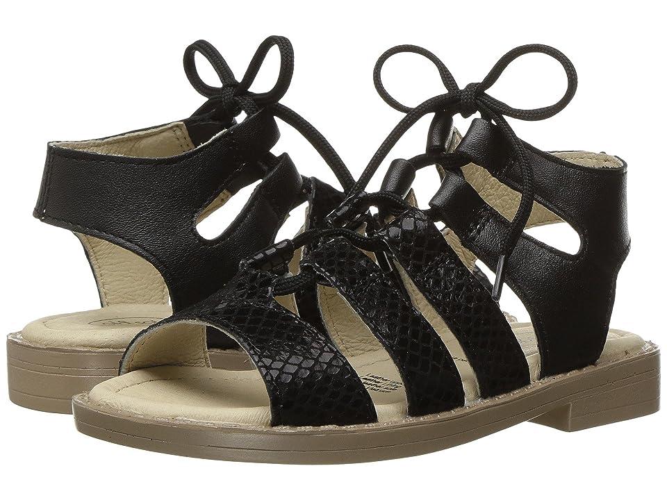 Old Soles Salted Sandal (Toddler/Little Kid) (Black Snake/Black) Girls Shoes
