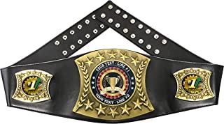 Express Medals Custom Top Sales Trophy Personalized Championship Leather Belt FCL567