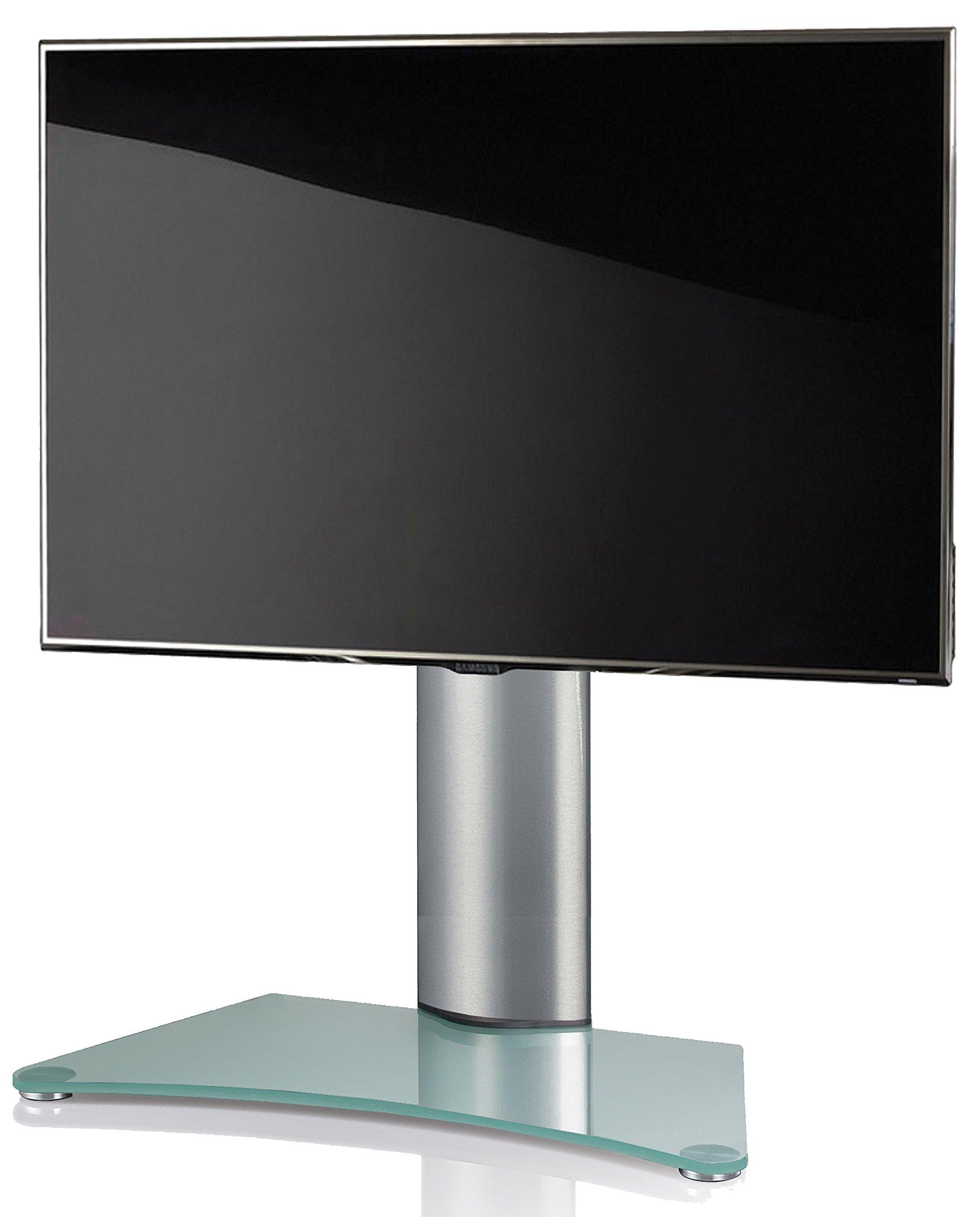 VCM Windoxa Maxi-Soporte de Mesa para TV, Cristal Opaco, Aluminio: Amazon.es: Hogar