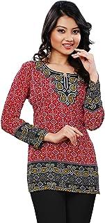 Maple Clothing Short Kurti Indian Tunic Top Women's Printed India Apparel