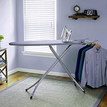 Oumffy Self Standing - Extra Large Foldable Ironing Board with Ironing Table with Iron Stand (IroningBoard-Grey)