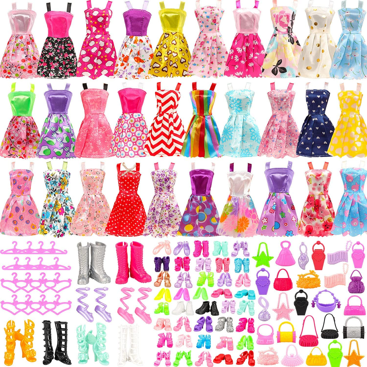 Max 78% OFF Funlight 105 PCS Girl Doll and Alternative dealer Including Clothes Accessories 20