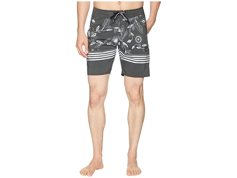 Volcom Lucid Stoney 18 Boardshorts (Black) Men
