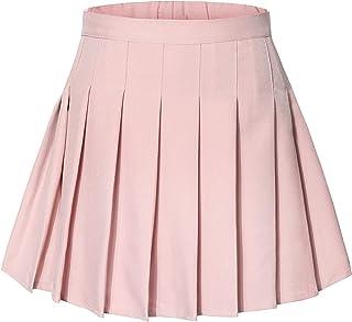 Tremour Little& Big Girls Uniform Skort Adjustable Waist Pleated Skirt 2 Years - 14 Years