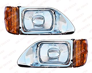 QSC Headlights Assembly Left Right Set for International Durastar 9200 9400 5900