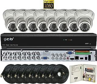 CIB 16CH 1080P HD Video Security DVR, 2TB HDD & 8x2.1-MP 1080P 1920TVL Night Vision Camera, Indoor Outdoor Metal Case (H80P16K2T03W-8KIT)