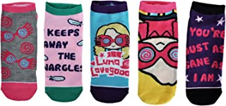 NJ Screenprints Calcetines de la Zapatilla de Deporte de Harry Potter 5 Pares de Luna Lovegood 39-42