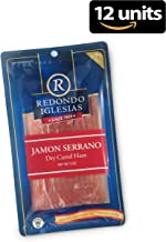 Jamon Serrano - Sliced 3 oz - Redondo Iglesias - 15 months aged dry cured ham - Spain Gourmet Delicatessen - 12 units
