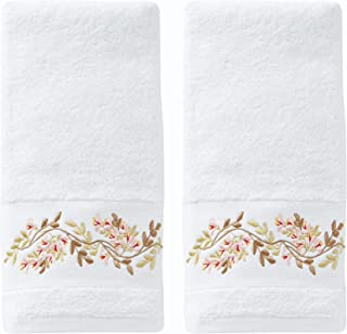 SKL Home by Saturday Knight Ltd. Misty Floral 2-Piece Hand Towel Set, White