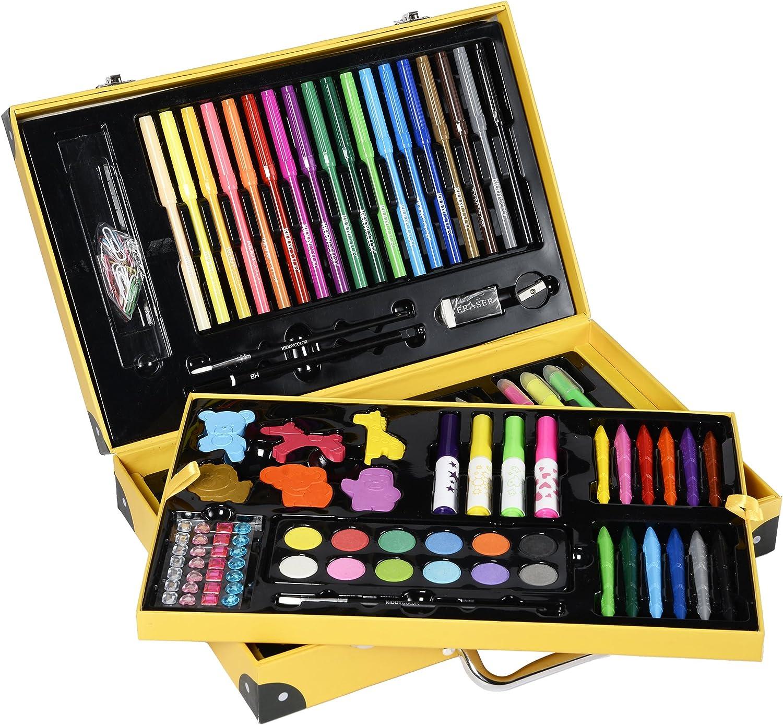 159pcs Conda Deluxe Lot de Art Bois pour enfants dans bo/îte en bois pour les d/ébutants ou les artistes en herbe enfants adultes