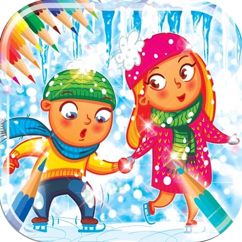 Livro de colorir para o inverno