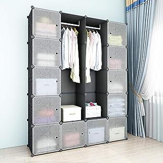 comprar comparacion SIMPDIY Armario sistematizado, 12+2 cubo plegable o colgante, armario almacenamiento gran capacidad estilo familiar para l...