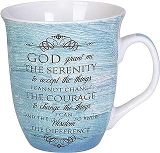 Serenity Prayer Teal Blue 16 Ounce Ceramic Stoneware Coffee Mug
