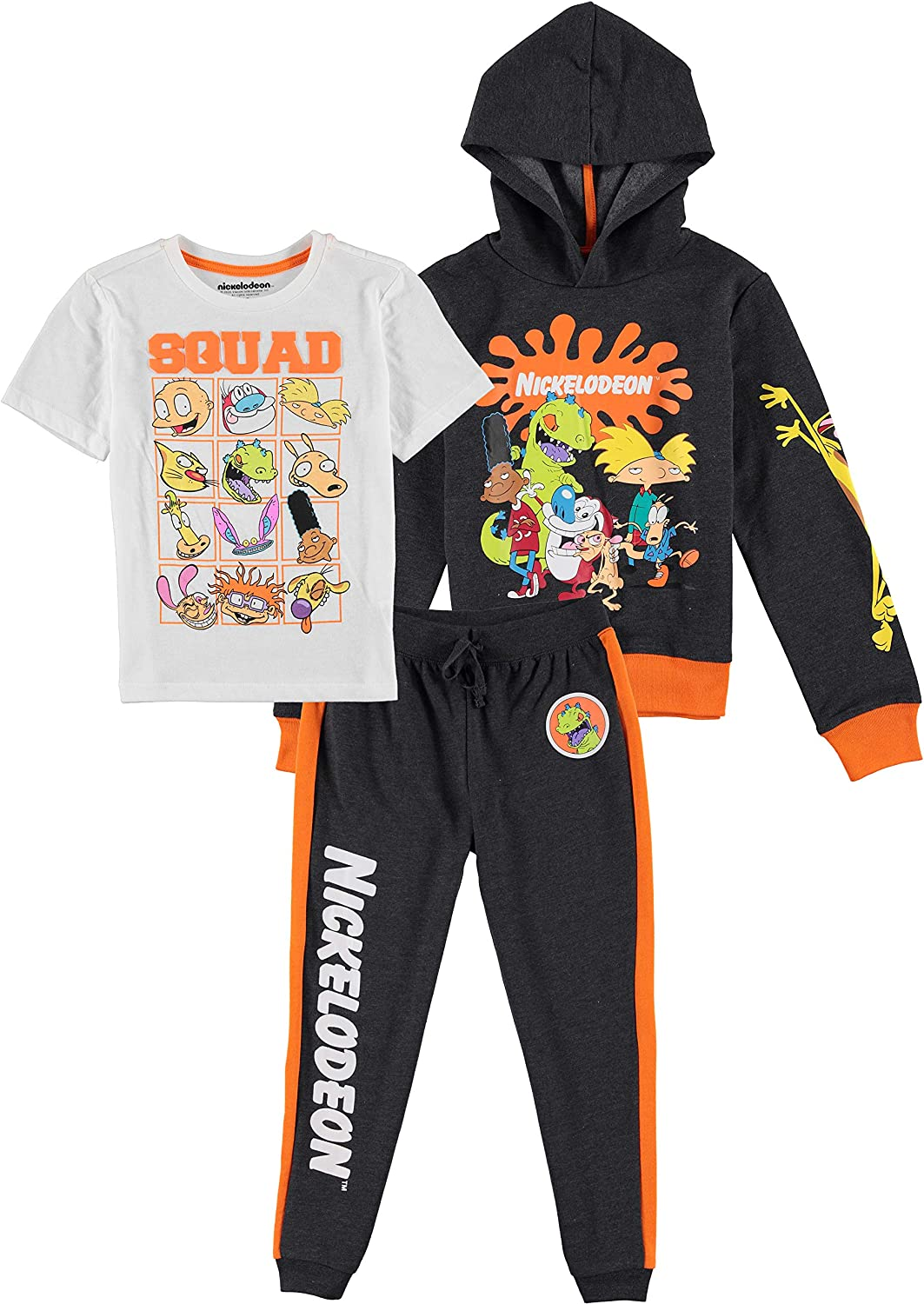 Nickelodeon Boys Squad Rugrats, Hey Arnold Graphic Hoodie, Top and...