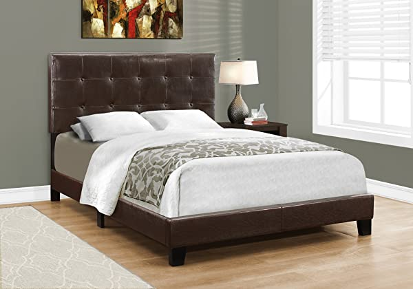 Monarch Specialties I 5922F Bed Frames Full Brown