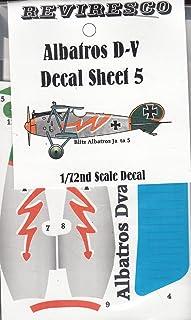 Albatros D-V - Dt. Jagdflieger - 1. Weltkrieg - Decal Set 5 - Roter Blitz Jasta 5 - Dekorsatz - 1:72