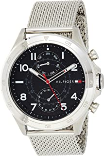 Tommy Hilfiger Men's Analogue Quartz Watch with Stainless-Steel Strap 1791342