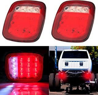 cciyu 2 Pack 76-06 Wrangler CJ YJ TJ LED Tail Lights Jeep TraIler Rubicon Off Road Rear Tail Lights Brake Lamps