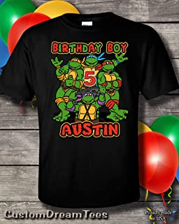 personalized ninja turtle birthday shirt