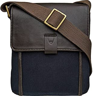 Hidesign Men's Aiden Canvas And Leather Messenger Cross Body Bag