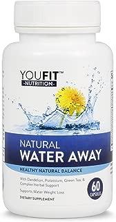 Water Pills - Diuretics Fight Water Retention & Bloating - Fluid Weight Loss Relief and Edema Support with Dandelion Root, Potassium, Green Tea Extract, Apple Cider Vinegar Supplement, Capsules
