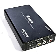 Orei XD-901 PAL RCA/S-Video to NTSC HDMI 50/60 Hz Multi-System Digital Audio Video Converter - Dual Voltage