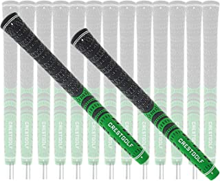 Multi -Compound Golf Grips, Standard/Mid Size All-Weather Control Thread Technology Rubber Combine with Carbon Yard, Anti-Slip-Set of 13 pcs