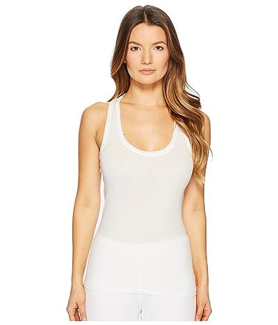 Skin Organic Pima Cotton Racerback Tank (White) Women