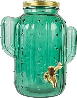 FISURA - Dispensador de bebidas cactus verde con grifo para 4 litros .