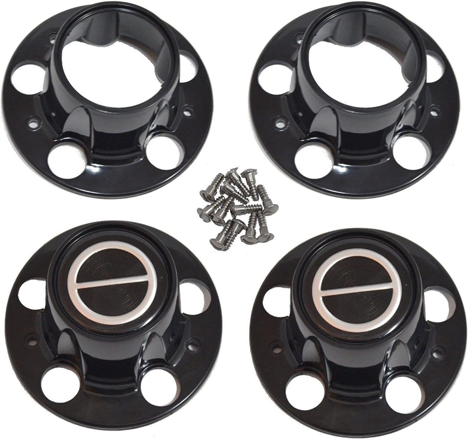 BB Auto Set of 4 New Limited Special Price 4x4 Replacement Wheel Black Center Hub Free shipping / New Caps