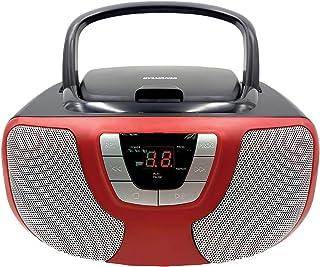 Sylvania Portable CD Player Boom Box with AM/FM Radio (Red)