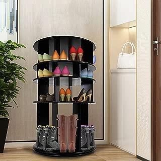 DL furniture - 4 Tier Rotated Shoe Rack Organizing Rack Entryway Storage Shelf   Black