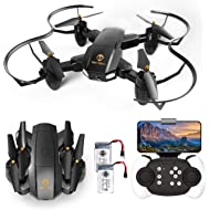 Drone with Camera, TOPVISION Foldable Quadcopter RC Drone with WiFi FPV HD Camera Live Video,...