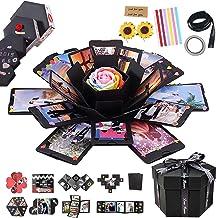 RECUTMS Explosion Box DIY Scrapbooking Set Handmade Photo Album,Gift Box with 6 Faces for Christmas Gift Wedding Memory Bo...