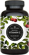 Acerola Kapseln - Natürliches Vitamin C. 120 vegane Kapseln im 4 Monatsvorrat. Ohne unerwünschte Zusätze. Laborgeprüft, vegan und hergestellt in Deutschland