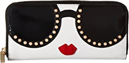 Alice + Olivia - Candice Stace Face Pearl Long Wallet