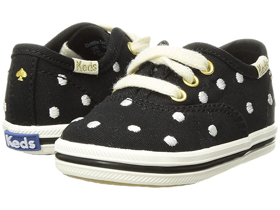 Keds x kate spade new york Kids Champion Seasonal Crib (Infant/Toddler) (Black Dancing Dot) Girls Shoes