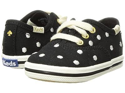 Keds x kate spade new york Kids Champion Seasonal Crib (Infant/Toddler) (Black Dancing Dot) Girls Shoes